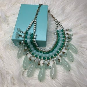 Jewelry - Gorgeous Teal Beaded Statement Necklace